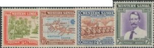 Samoa SG195-8 25th Anniversary of New Zealand Control set of 4